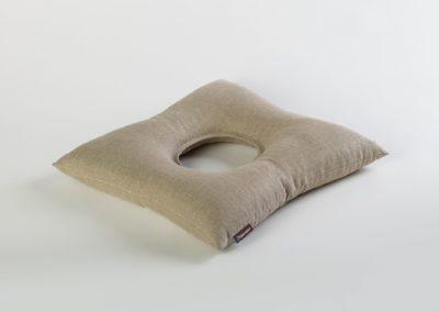 Poduszka ortopedyczna wypełniona ekologiczną łuską gryki – ReliefSit len
