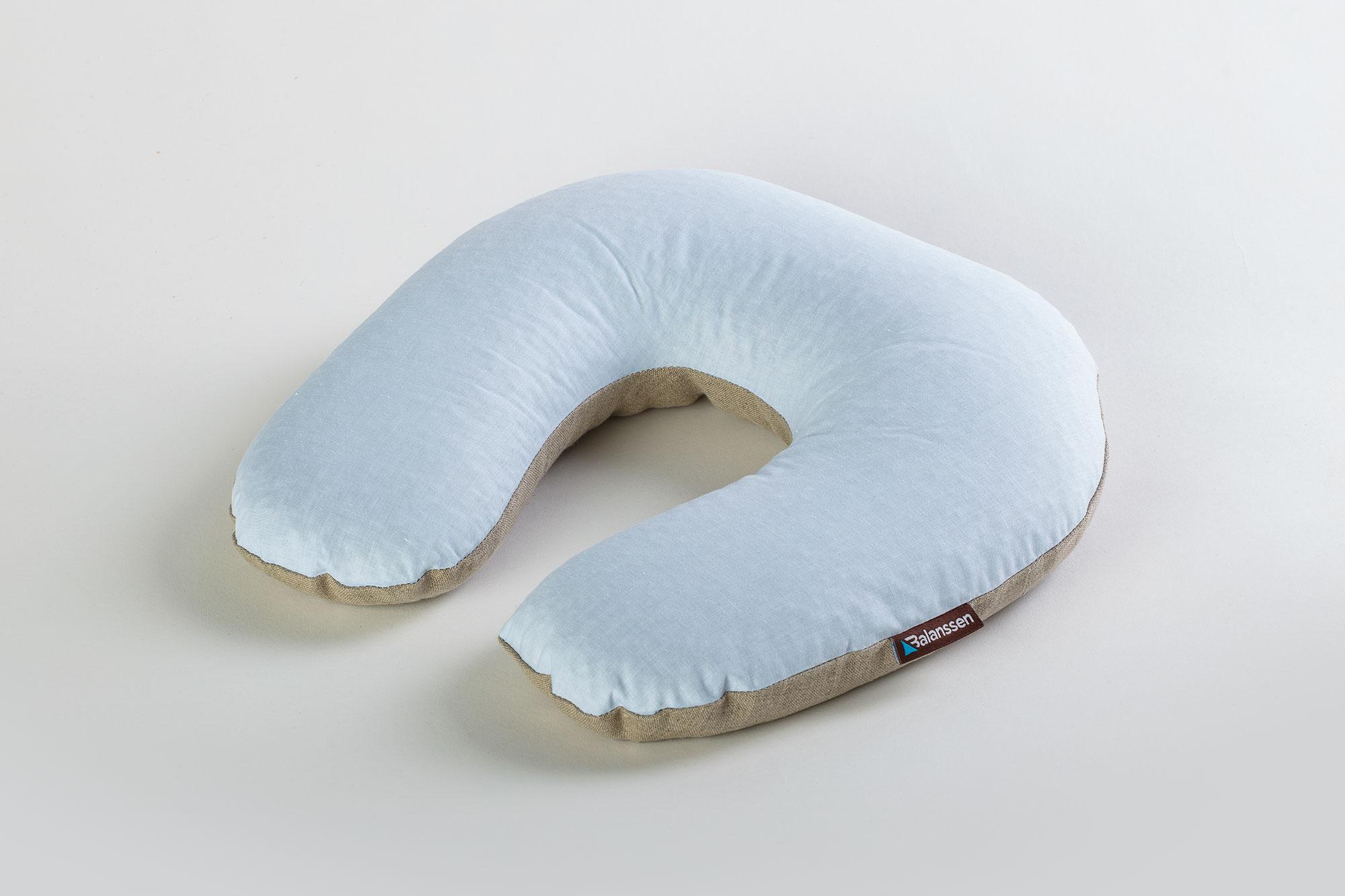 Poduszka gryczana TravelLine błękitna